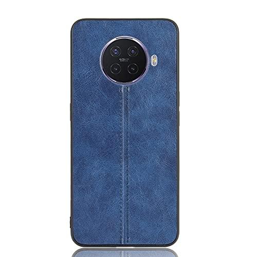 BEIJING  PROTECTIVECOVER+ / for OPPO ACE2 Patrón de Vaca a Prueba de Golpes PC PC + PU + Caso DE TPU, Fashion Phone Funda para Protector (Color : Azul)