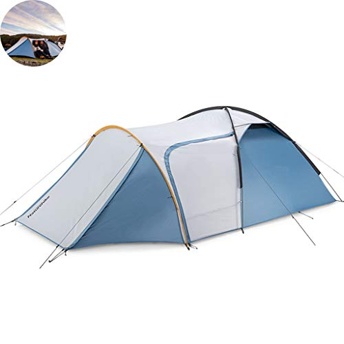 Dome Tents 2-3 People, One Room One Hall Pop-Up Tents, Tunnel Tents for Camping, Seaside Tent with Extended Entrance Hall Design, Quick Set Up (Color...