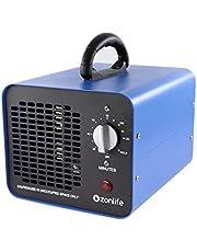 Commerciële ozongenerator, 10.000 mg/u Industriële ozonluchtreiniger, 220V ozonapparaat met timer voor kamers, rook, auto's en huisdieren