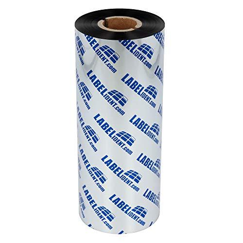 Labelident Thermotransfer Farbband schwarz - 160 mm x 300 m - Wachs Farbband für matte Papieretiketten, Etikettendrucker 6 Zoll Druckbreite