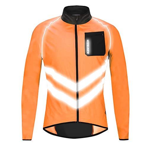 Icegrey Hommes Vestes de Cyclisme Coupe-Vent Manches Longues VTT Manteau Noir M