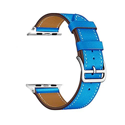 okkpbg Correa de Hombre Lazo de Cuero Colorido for la Serie de Banda de Reloj de Apple 6 / SE / 3/2/1 Pulsera del Deporte 42mm 38mm Correa for iWatch 4/5 Banda 40mm 44mm Casual y Hermosa