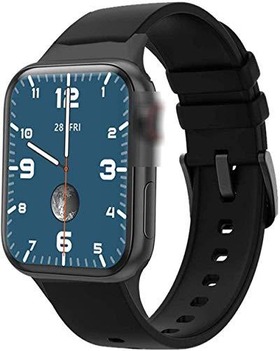 Reloj inteligente de 40 mm, medición de oxígeno de 1,57 pulgadas, monitor de frecuencia cardíaca, llamada Bluetooth, reloj inteligente, fácil de usar, color azul y negro