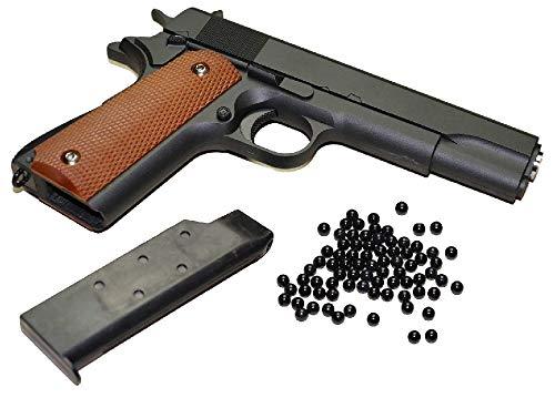 KOSxBO® Airsoft Pistole - Vollmetall Metallschlitten, schwarz Kaliber 6 mm BB Ink. Premium BBS Munition