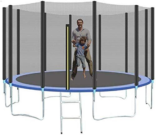Wosxyeal trampoline outdoor tuintrampoline jumper unisex kinderen tuintrampoline jump trampoline complete set incl. springmat met veiligheidsnet ladder en gevoerde stangen
