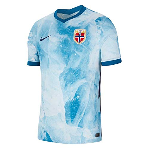 NIKE Nor M Nk BRT Stad JSY SS AW Camiseta, White/Green Abyss/Midnight Navy, Large para Hombre