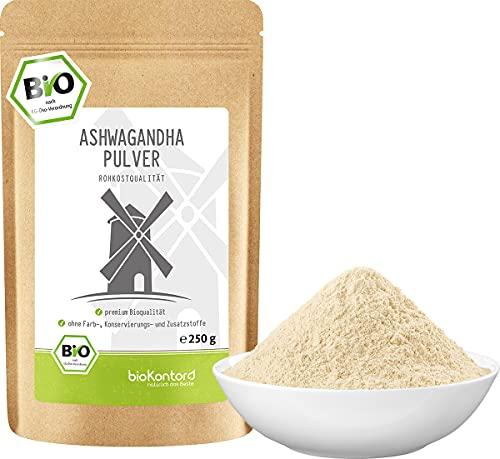 Ashwagandha Pulver Bio 250g   100% echte Ashwagandha Wurzel aus Indien   bioKontor   indischer Ginseng