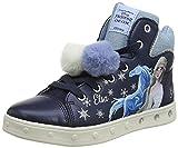 Geox J Skylin Girl C, Shoes, Navy/Sky, 29 EU