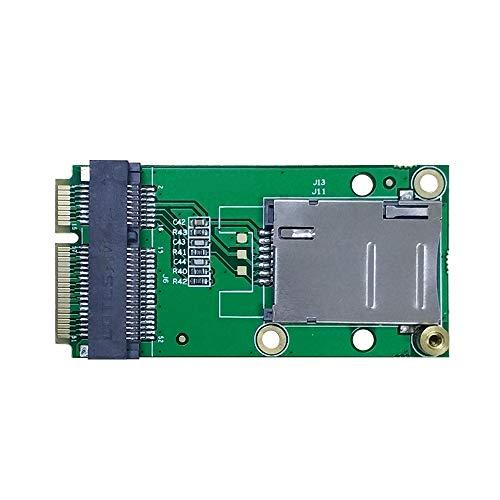 EXVIST 4G LTE Industrial Mini PCIe a Mini PCIe Adattatore W/SIM Card Slot (Push-Push) per WWAN/LTE 3G/4G Modulo adatto per applicazioni M2M e IoT come Raspberry Pi Router Industriale Videosorveglianza