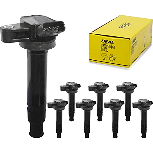 DEAL AUTO ELECTRIC PARTS Pack of 8 New Ignition Coils Compatible With GS430 GX470 LS430 LX470 SC430-4Runner Land Cruiser Sequoia Tundra 4.3L 4.7L V8 Replacement For UF230 C1173 UF493