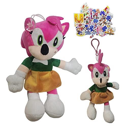 MIAOGO Llavero juguetes suaves Super Sonic Super Sonic Peluche Juguete Erizo Muñeca Regalo Muñeca Dibujos Animados Colgante Muñeca Pequeña Muñeca
