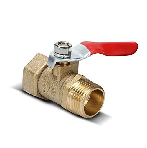 Válvula Válvula de bola de latón 1/8 '1/4 '' 3/8 '' 1/2 '' hembra / hilo masculino de la válvula de latón del conector de la válvula de la sujeción del acoplador de la tubería de cobre adaptador de ac
