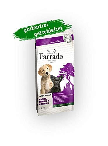 Farrado Welpenfutter   Puppy Junior getreidefrei & glutenfrei - Trockenfutter mit Lachs, Hering, Forelle (4 kg)