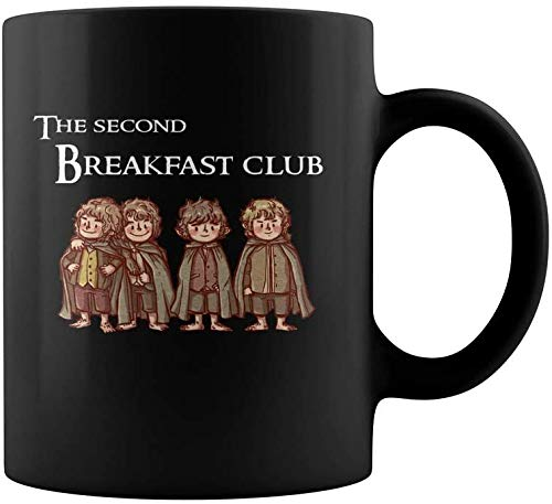 LOTR The Second Breakfast Club Hobbits Coffee Mug - 11Oz Black Gift For Friend Lover Fans Kids In Christmas Birthday Children's Day