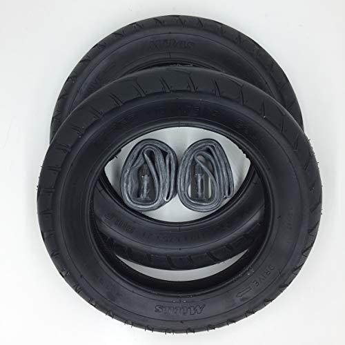 2x Mitas V63 Golf 10 Zoll Reifen 10x1.75x2 Zoll | 47-152 + AV Schlauch (gerades Ventil) Kinderwagen, Buggy, Roller, Dreirad
