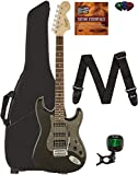 Fender Squier Affinity Stratocaster HSS - Montego Black Metallic Bundle with Gig Bag, Tuner, Strap, Picks, and Austin Bazaar Instructional DVD
