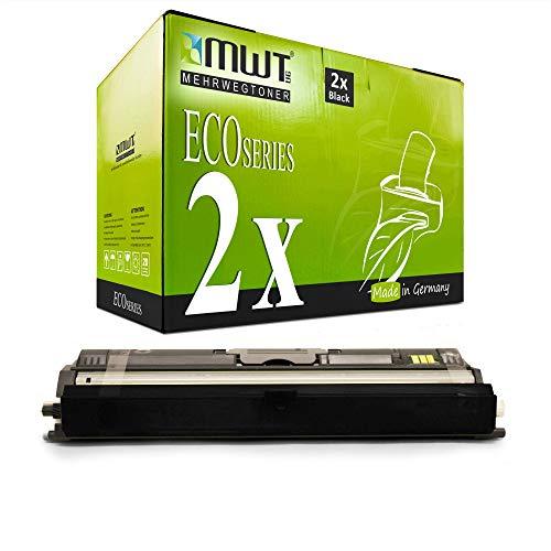 2X MWT Toner für Oki MC 160 wie 44250724 Black Schwarz Patronen Kartuschen