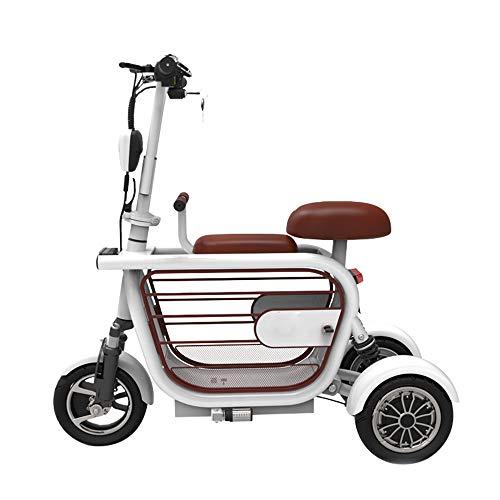 HSJCZMD Triciclo Elettrico, Adulto elettrica Pieghevole Bici, Pet Automobile elettrica, Il Tempo Libero all'aperto Scooter per Gli Anziani 50 km 48v / 13Ah / Mileage,C