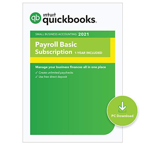 QuickBooks Desktop Basic Payroll 2021 I Compatible with QuickBooks Pro, Premier, and Enterprise [PC Download code]