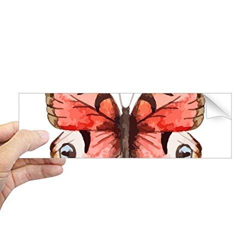 DIYthinker Rose Roze Vlinder in Olie-Schilderij Rechthoek Bumper Sticker Notebook Window Decal