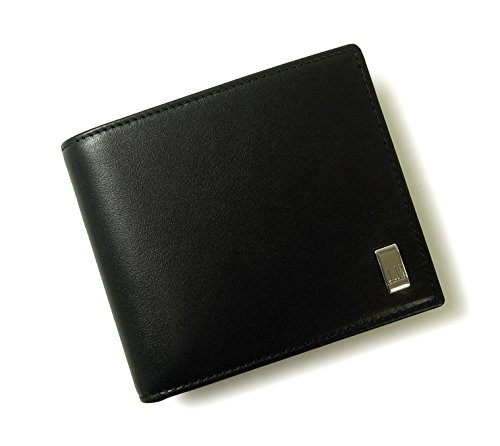 DUNHILL 【ダンヒル】 二つ折り財布 QD3070A SIDECAR ブラック [並行輸入品]