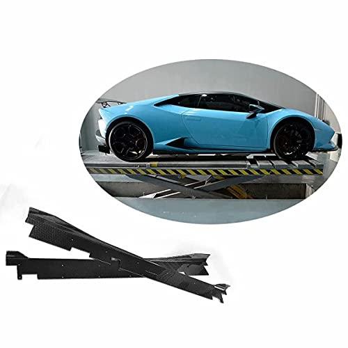 QINDE Faldones Laterales De Coche, Aptos para Lamborghini Huracan Lp600 Lp610 Coupe 2 Puertas 2014-2017 Faldones Laterales De Fibra De Carbono Extensiones De Alerón Paneles Basculantes