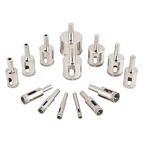 Diamond Drill Bits, Genround 15 PCS Diamond Drill...