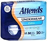 48AP0720CA - Attends Adult Pull-On Extra Absorbency Protective Underwear Medium 34 - 44