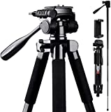 Camera Tripod, FOSITAN 72-inch Compact Travel Tripod with Quick...