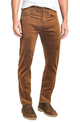 ETHANOL Men's Slim Stretchy Casual Corduroy Pant APL21950SK Wheat 36