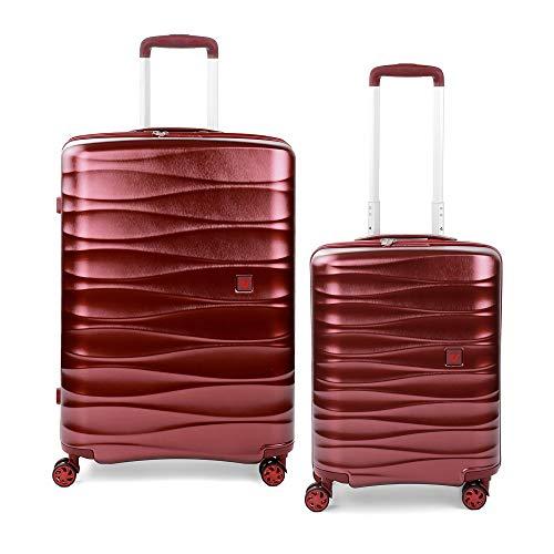 RONCATO Stellar set 2 maletas rígidas ampliables (medio + cabina) Rojo oscuro