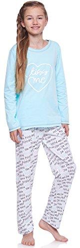 Merry Style Mädchen und Jugendlicher Schlafanzug MSTR1033 (Türkis-2A, 152)