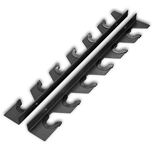 Wall Mount Barbell Gun Rack - Olympic Barbell Storage Rack, 6 or 10 bar (6-Bar)