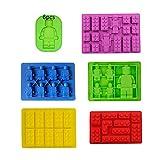 TDCQ 6pcs Molde de Silicona para Fondant,Robot Moldes de Chocolate Molde,Moldes de Silicona...