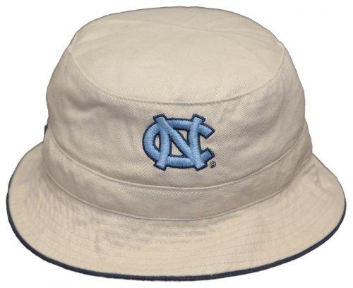 New! University of North Carolina Tar Heels Bucket Hat Embroidered Fishing Hat - Size Small Khaki