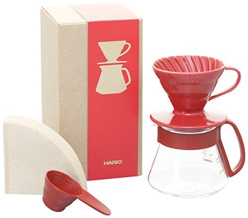 HARIO (ハリオ) カラー コーヒードリッパー & ポット レッド  コーヒードリップ 1~2杯用  VDS-3012R