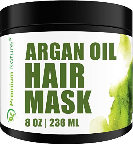 Arganöl Haarmaske Hair Mask Haarkur - Premium Nature Natural Haar Kur Argan Öl Kaputte Haare Conditioner Sehr Trockenes Strapaziertes Haar Argan Oil Locken & Glatte Haare Reparatur Ohne Sulfate