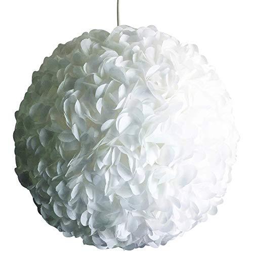 Little White Fluffy, Ø 32cm, Papierlampe Hängelampe Lampe Lampenschirm Pendellampe Designerlampe Deckenlampe Leuchte weiß AUS PAPIER + Lampenfassung E27 für LED Glühbirne