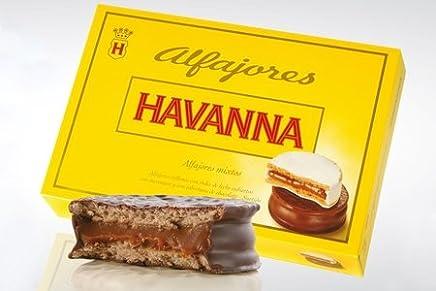 Alfajores Havanna Mixtos de Dulce de leche y Chocolate (6 alfajores) 306 grams