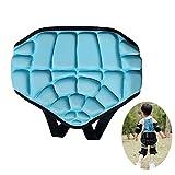 WING Short de Protection Enfant Protection de Fesse Rembourré 3D Réglable, Respirant Shorts Rembourrés 3D pour Roller Patinage Ski Planches à Roulette,Bleu