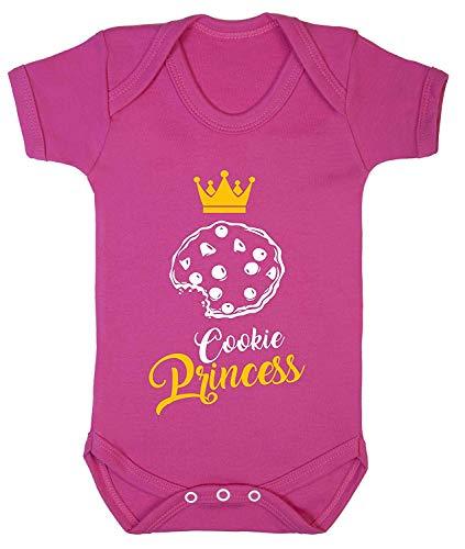 Combinaison pour bébé Motif Cookie Monster Princesse Taille 0-24, Pink-cerise, 6-12 mois