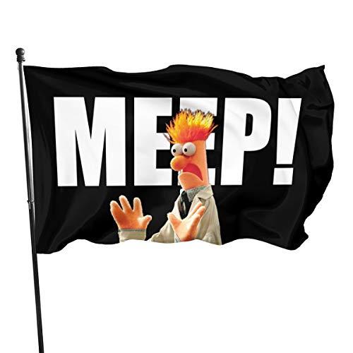 Shenhui Beker Die Muppets Garten vlag, 3x5 Ft 150cm X 90cm?, lente, zomer, herfst, tuin, welkom Hof, Outdoor Decor Garden Flag Eén maat zwart