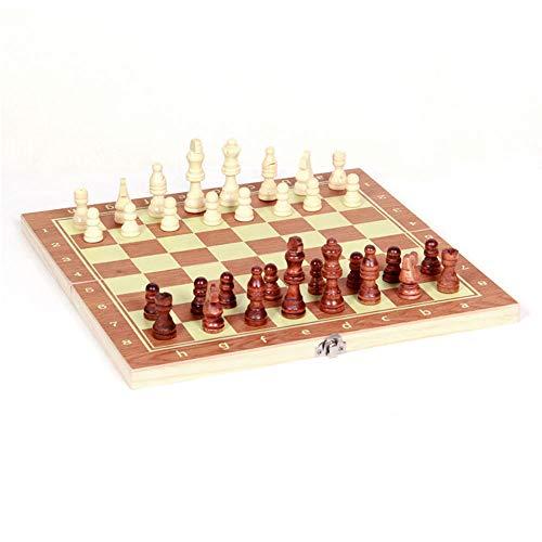 Juego de ajedrez 3 en 1 de madera, juego de ajedrez internacional,...