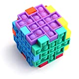 IVILLY DIY Rubiks Cube Silicone Push Pop Bubble Fidget Sensory Toy Suitable for Stress Reliever Stress Relief and Anti Anxiety Tools for Kids and Adult