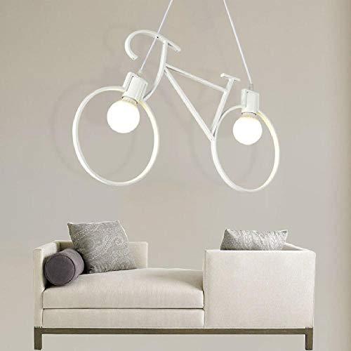 Hang lampen Nordic Retro LED Chandelier Lights Living Iron Bike ChandeliersIluminación industrial Loft Decor