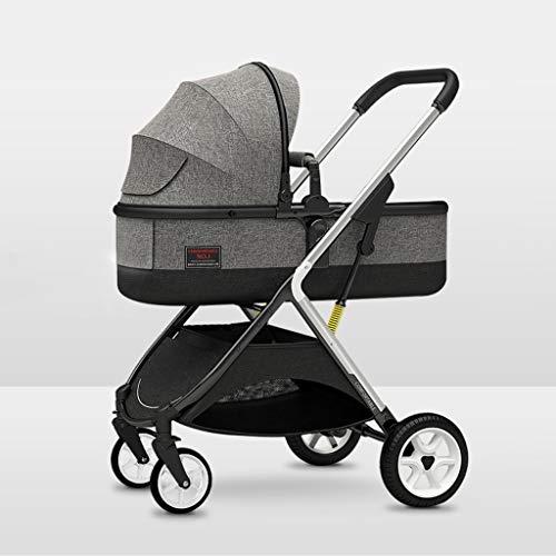 New JIAX Infant Baby Stroller, All Terrain Pushchair Stroller Compact Convertible Luxury Strollersï¼...