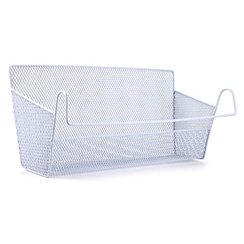 Sumnacon 1 Stk Bett Hängende Aufbewahrungskörbe Schlafsaal Bett Veranstalter Caddy für Home Office School Schlafsaal (Weiß)
