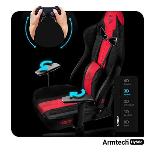 Diablo X-Player 2.0 Silla Gaming Oficina Apoyabrazos 3D Diseño Ergonómico Cuello/Cojín lumbar (Antracita-Carmesí, Normal… 5