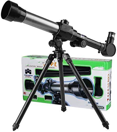 ZHTY Telescopio para niños, telescopio de Juguete de Ciencia educativa para niños Principiantes, con trípode 20X 30X 40X oculares de Aumento, telescopio Moon Star Maps