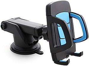 Flexible Car Dashboard Holder for Samsung Galaxy J7 - Blue
